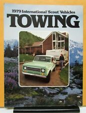 1979 International IHC Scout Model II Traveler Terra Sales Folder For Towing