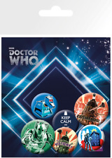 SPILLA Doctor Who Pin Badges 6 Pack Retro Gye