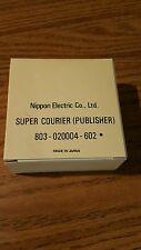 NOS genuine Nec print thimble for NEC impact printers. Font Super Courier