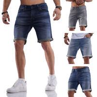 Jack & Jones Herren Jeans Shorts Bermudas Casual Used Look Herrenhose Hose