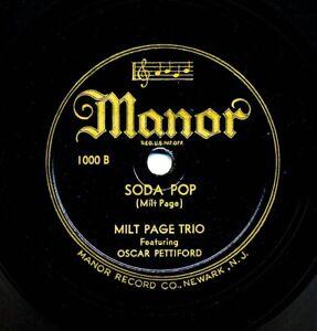 MILT PAGE Trio featuring OSCAR PETTIFORD on 1945 Manor 1000 - Soda Pop