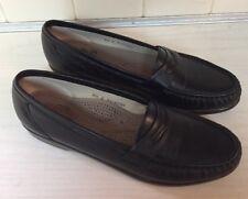 SAS Tripad Comfort  Penny Loafers Black Leather Shoes Women's 8.5 S Slim USA