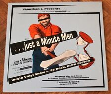 "Minutemen – . . .Just A Minute Men 12"" LP - Live Punk Rock RARE! - Mike Watt"