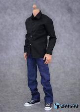 1/6 ZYTOYS Black Shirt Jeans Clothes Suits Set F/Male HT PH Action Figure Body