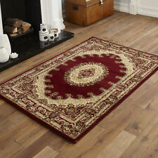 Small Traditional Modern Classic Red Pattern Clearance 80x150cm Rug
