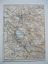 stampa antica MAPPA LAZIO FRASCATI MARINO ALBANO GENZANO VELLETRI NEMI 1938