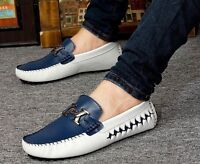 Mens Leisure  Slip On Loafers genuine leather comfort  Moccasins Driving shoes
