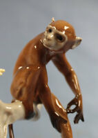 Affe auf Ast Hutschenreuther figur tierfigur porzellan porzellanfigur
