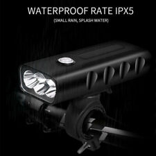 New X3 1500LM CREE T6 LED Mountain Bike Light USB Rechargeable Front Rear 2019