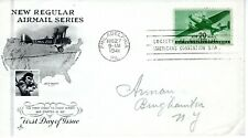 1941 AIR MAIL 20 CENT PLANE ART CRAFT CACHET PENCIL ADDRESSED FDC