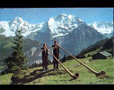 KRATTIGEN (SUISSE) JOUEUR de COR des ALPES en 1964