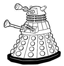 Dr Who Dalek vinyl Decal / Sticker