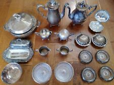Collection Silverplate Serving Ware, Teakettles, Bowls,