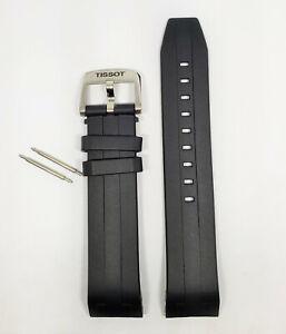 Original Tissot Seastar (FITS T120407A ONLY) Black Rubber 21mm Watch Band Strap