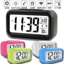 Digital Sensor Automatic Soft Light Snooze Desk Alarm Clock Date Temperatur DS