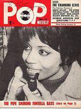 Pop Weekly Magazine 1 January 1966  Fontella Bass  Walker Brothers  Carol Friday