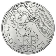 10 euros des régions personnages en argent Île de France 2012