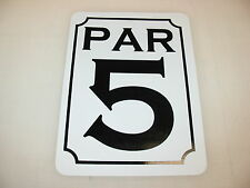 PAR 5 Sign for Golf Course Country Club, Pro Shop Indoor Driving Range Mat Net