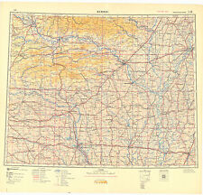 Russian Soviet Military Topographic Maps Sheet Memphis Usa 1 1 Mio Ed 1950