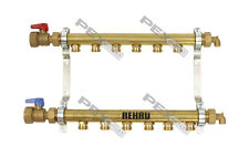 6 Circuit Brass Radiant Floor Heat Manifold for PEX Pipe (HLV6)