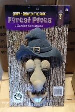 Brand New Scary Glow-in-the-Dark WITCH Tree Forest Face Or Hill Billy