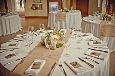"""30 Burlap Table Runners 14""""x108"""" Wedding Event 100% Natural Jute Made in USA"""