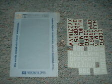 Microscale decals 1/72 72-52 RAF ID letters white red large  E86