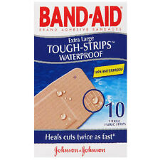 Band-Aid Adhesive Bandages, Extra Large Tough-Strips Waterproof - 10 Each