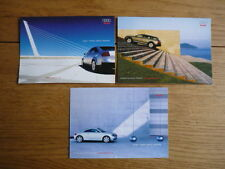 AUDI TT, ALL ROAD & A6 PERIOD POSTCARDS x 3 Brochure related jm
