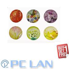 6 PCS Flower Floral Pattern Home Button Sticker iPhone 4 4S 5 + Bonus Set