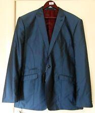 NUOVO stilista collezione Marc Darcy Gents Shiny Blu Giacca Taglia 48r nuovi con etichetta
