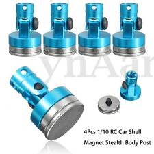 4pcs 1/10 RC Car Crawler Shell Alloy Magnetic Stealth Invisible Body Post Mount