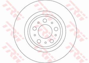 TRW Brake Rotor Pair Rear DF4338S fits Volvo XC90 2.5 T, 3.2, 3.2 AWD