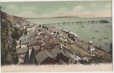 Shanklin from Cliff, Isle of Wight F.G.O. Stuart 1101 Postcard B800