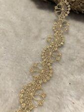 28mm pretty gold Retro Venise Lace Trim Craft Sewing DIY Dress Wedding Per Meter
