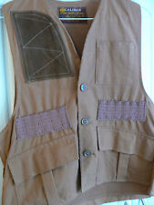 CALIBER SM RUST BIRD HUNT VEST-RECOIL PATCH-SHELL SLOTS-TREATED GAME POUCH-NWOT