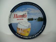 "VINTAGE HAMM'S BEER TRAY METAL TIN ""From the Land of sky blue waters"" 13 1/4"""