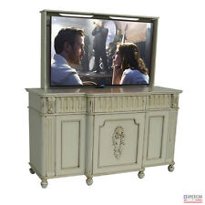 TV Lift - Handcrafted Traditional Naples Cabinet + Pop Up TV Lift