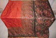 Seide Blend Antik Vintage Sari Saree Stoff Material 3.7m BB9 250 Schwarz ABCF3