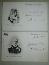 DEUX CPA PORTRAITS GRAND DUC & GRANDE DUCHESSE LUXEMBOURG ROYAUTE 1903