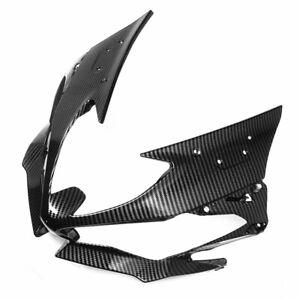 For 2019-2021 KAWASAKI ZX6R Front Nose Headlight Cover Fairing Cowl Carbon Fiber