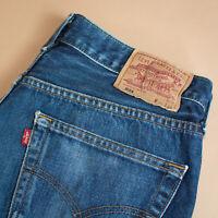 Levi 501 Jeans Blue Straight Button Fly Unisex Vintage (PatchW34L34) W 32 L 33
