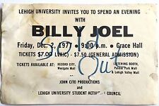 BILLY JOEL ULTRA RARE ORIGINAL VINTAGE 1977 LEHIGH UNIVERSITY CONCERT POSTER!!