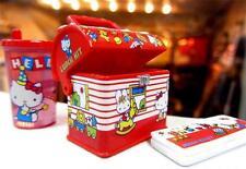Sanrio Vintage Miniature Hello kitty collection Pencil Case and Metal Tin Set