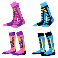 4 Pairs Kids Child Winter Thermal Long Ski Snowboarding Sport Socks EU 31-34