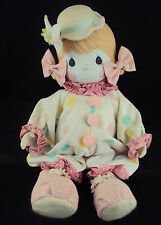 """Precious Moments Doll 100463, """"Candy"""" The Clown, Includes Doll Stand, Certficate"""