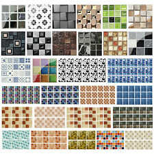 100pcs Kitchen Tile Stickers Bathroom Mosaic Sticker Self-adhesive 3D Wall Decor