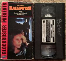 HALLOWEEN - (1978) - VHS - HORROR - JOHN CARPENTER - JAMIE LEE CURTIS