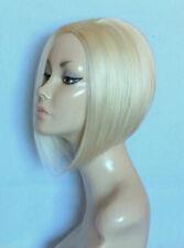 Perruque blonde courte carré plongeant sans frange synthétique top qualité