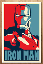Iron Man Avengers Tony Stark Movie Prop Hope Shepard Fairey Poster Marvel Comics